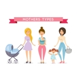 Moms with babys vector image vector image