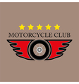 Motorcycle Club Logo on white background vector image