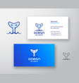 ocean games abstract logo and business card vector image