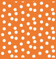 orange background scattered dots polka seamless vector image vector image