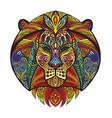 ornamental lion vector image vector image