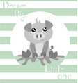 piglet with baby green stripes vector image vector image