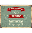 Retro metal sign Merry Chrismas vector image vector image
