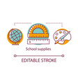 school supplies concept icon educational vector image
