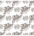 seamless pattern from outline drawings of arms in vector image vector image