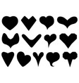 set different hearts vector image vector image