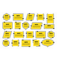 set yellow isolated quote frames speech vector image