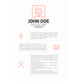 Simple CV Template vector image vector image
