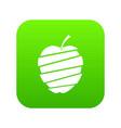 sliced apple icon digital green vector image