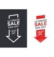 Super sale arrow design vector image vector image