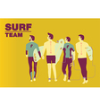 Surf team cover design vector image vector image