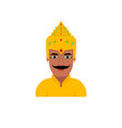 the king of the hindu vector image