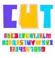 trendy alphabet bright colored letters uppercase vector image