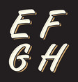 vintage letter efgh vector image vector image