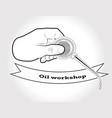 vintage logo with oiler vector image vector image