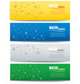 water drops with place for text on different color vector image vector image