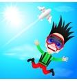 fun skydiver flying vector image