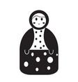 isolated matrioshka toy icon vector image
