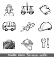 Services sector icons vector image