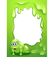 A border design with a very tired monster vector image vector image