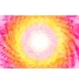 abstract colorful swirl rainbow polygon around vector image vector image