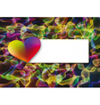 Abstract Valentines day postcard vector image
