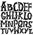 antique alphabet gothic letters vintage hand vector image
