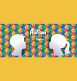 autism awareness day papercut kid puzzle banner vector image