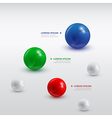 balls infographic 2 vector image vector image