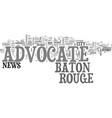 baton rouge advocate text word cloud concept vector image vector image