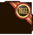 Best price golden label with ribbons vector image vector image