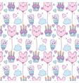 birthday background cartoons vector image
