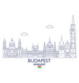 budapest city skyline vector image vector image