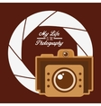 camera shutter background vector image vector image