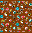 camping stickers seamless color pattern vector image vector image