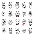 Cartoon faces expressions set vector image vector image