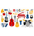 cartoon musical instruments vector image vector image