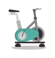 cartoon stationary bicycle sport elements design vector image