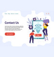 chatbot header template for website contact us vector image vector image