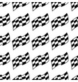 checkered racing flag black and white seamless vector image