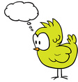chicken with thought bubble vector image vector image