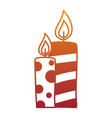 christmas candles decorative icon vector image