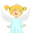 cute cartoon christmas angel vector image vector image