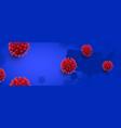 dangerous coronavirus cell horizontal background vector image vector image