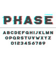 decorative futuristic font design alphabet vector image