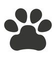 dog foot print isolated icon design vector image vector image