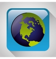 Earth planet graphic icon vector image