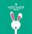 easter bunny in flat style vector image vector image