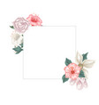 frame of hibiscus jasmine and tulips and roses vector image vector image