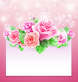 Glowing background with roses vector image vector image
